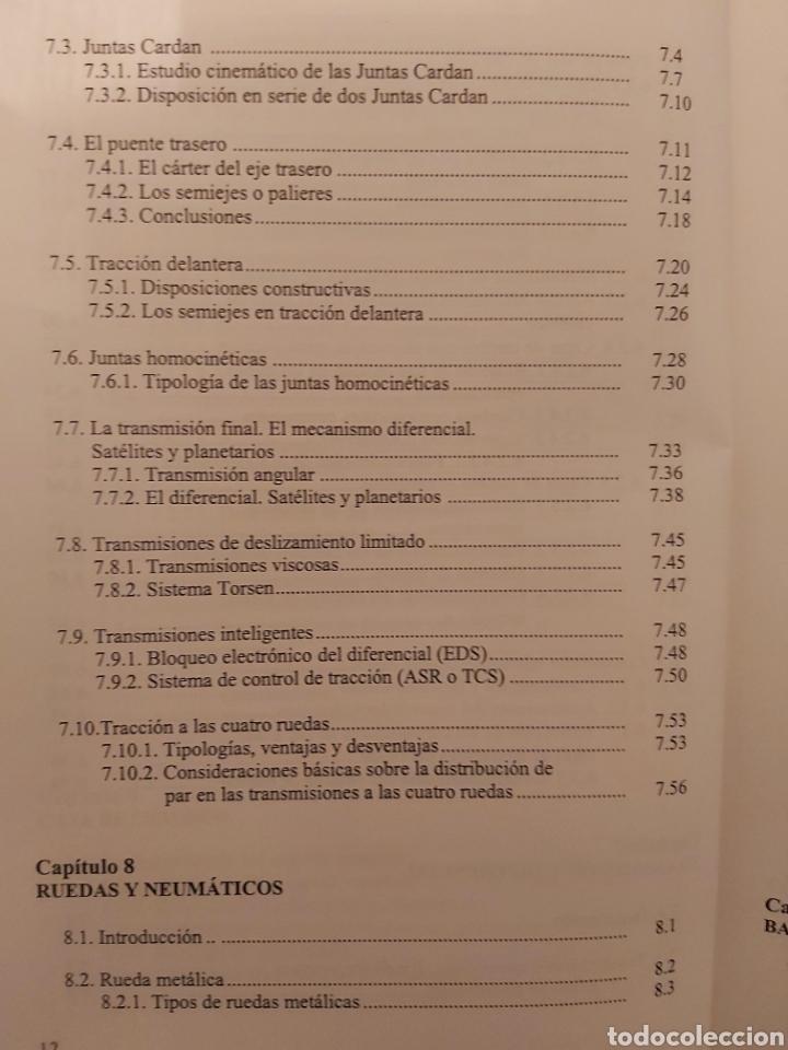 Libros de segunda mano: TRATADO SOBRE AUTOMÓVILES. TOMOS I y II. U.P.V - Foto 10 - 271157353