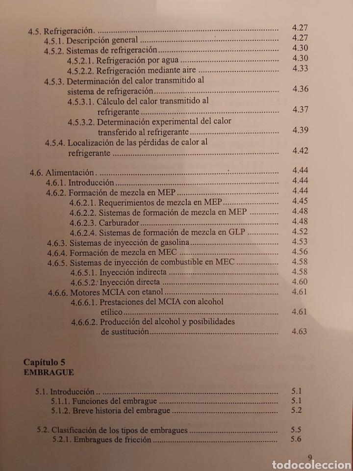 Libros de segunda mano: TRATADO SOBRE AUTOMÓVILES. TOMOS I y II. U.P.V - Foto 16 - 271157353