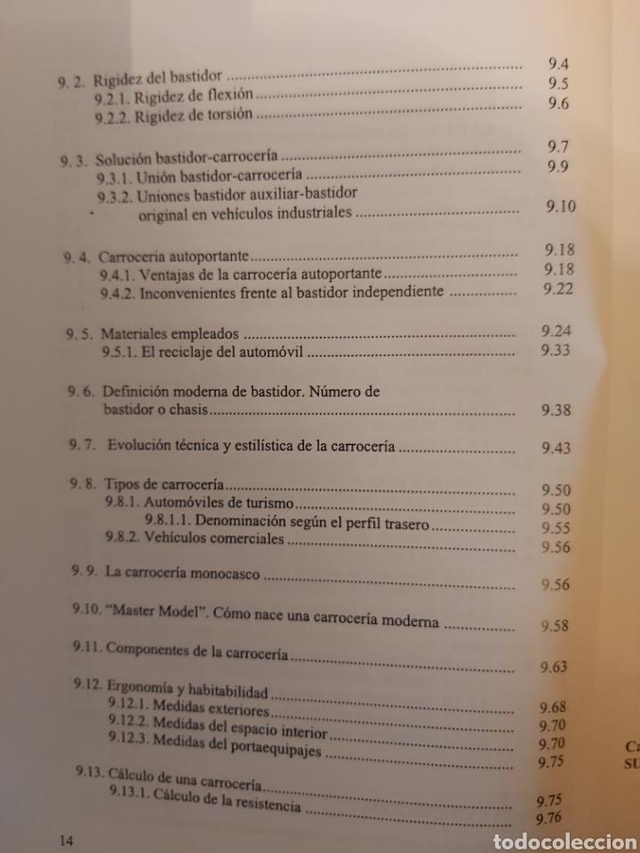 Libros de segunda mano: TRATADO SOBRE AUTOMÓVILES. TOMOS I y II. U.P.V - Foto 17 - 271157353