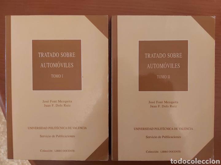TRATADO SOBRE AUTOMÓVILES. TOMOS I Y II. U.P.V (Libros de Segunda Mano - Ciencias, Manuales y Oficios - Otros)