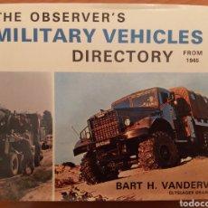 Libros de segunda mano: THE OBSERVER'S MILITARY VEHICLES DIRECTORY FROM 1945. EN INGLÉS. 425 PP. Lote 271314863