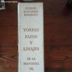 Libros de segunda mano: TORRES, PAZOS Y LINAJES DE LA PROVINCIA DE LA CORUÑA.-CARLOS MARTÍNEZ-BARBEITO.CON CAJETIN.. Lote 271600713