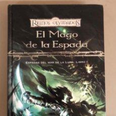 Libros de segunda mano: EL MAGO DE LA ESPADA,ESPADAS DEL MAR DE LA LUNA.LIBRO I-RICHARD BAKER, TIMUN MAS,REINOS OLVIDADOS.. Lote 271798843
