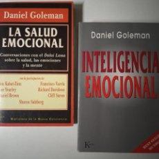 Libros de segunda mano: DANIEL GOLEMAN LA SALUD EMOCIONAL E INTELIGENCIA EMOCIONAL EDITORIAL KAIROS. Lote 271912873