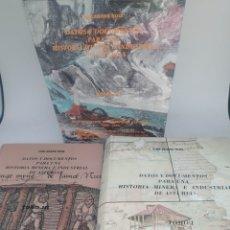 Livres d'occasion: DATOS Y DOCUMENTOS PARA UNA HISTORIA MINERA E INDUSTRIAL DE ASTURIAS TOMOS 1 3 Y 4 LUIS ADARO RUIZ. Lote 272070523
