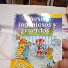 Libros de segunda mano: M-38 LIBRO VERSOS INGENIOSOS Y CUERDOS , LEE CON GLORIA FUERTES. Lote 272138098