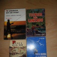 Libros de segunda mano: 4 LIBROS DE PESCA - PESCA EN EL MAR (2) + PESCA MARINA + TECNICAS DEL LANZADO DISPONGO DE MAS LIBROS. Lote 272197153
