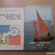 Libros de segunda mano: PATRONES DE EMBARCACIONES DEPORTIVAS A MOTOR Y A VELA / 1ª Y 2ª CLASE - DISPONGO DE MAS LIBROS. Lote 272197848