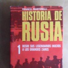 Libros de segunda mano: HISTORIA DE RUSIA - 1 DESDE SUS LEGENDARIOS INICIOS A LOS GRANDES ZARES - DE VECCHI - 1973. Lote 272675963