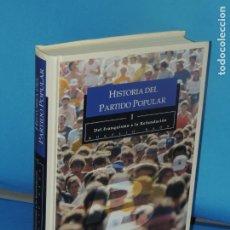 Livres d'occasion: HISTORIA DEL PARTIDO POPULAR: DEL FRANQUISMO A LA REFUNDACIÓN.- ROGELIO BAÓN. Lote 272709198