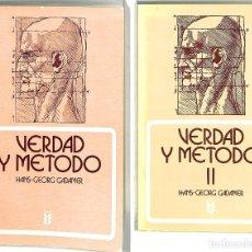 Livres d'occasion: VERDAD Y MÉTODO TOMO I Y II - HANS-GEORG GADAMER - EDICIONES SÍGUEME, S. A. - HERMENEIA, 7. Lote 272824428