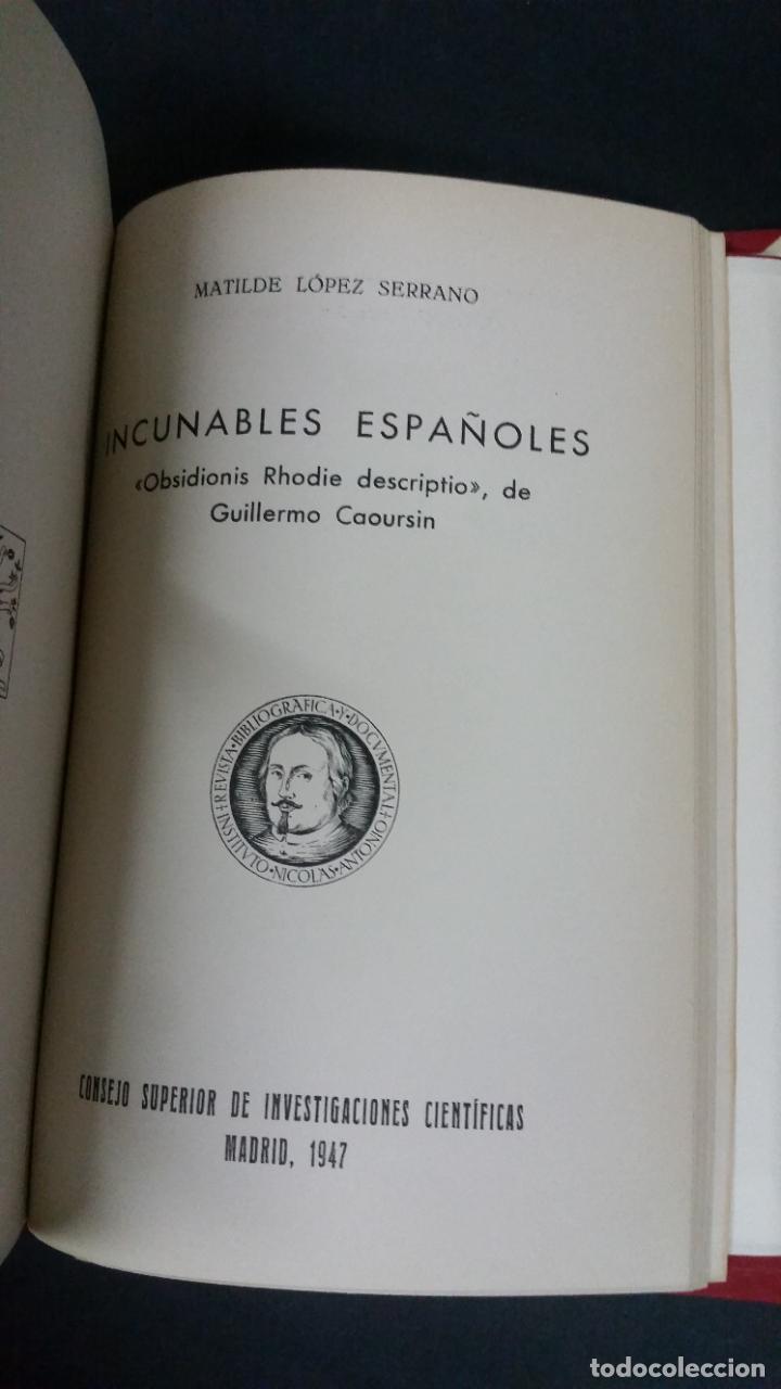 Libros de segunda mano: Revista Bibliográfica y Documental. Archivo general de erudición hispánica. Años 1947 a 1951 - Foto 6 - 269312083