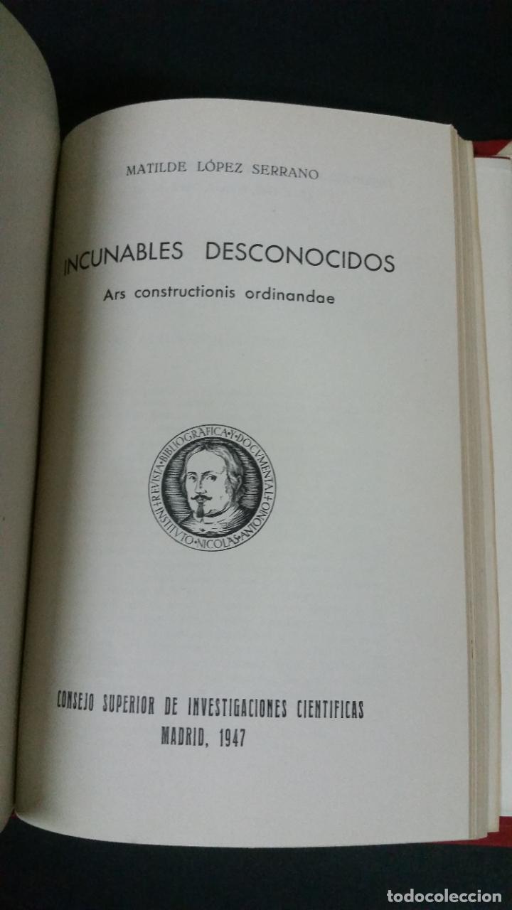 Libros de segunda mano: Revista Bibliográfica y Documental. Archivo general de erudición hispánica. Años 1947 a 1951 - Foto 7 - 269312083