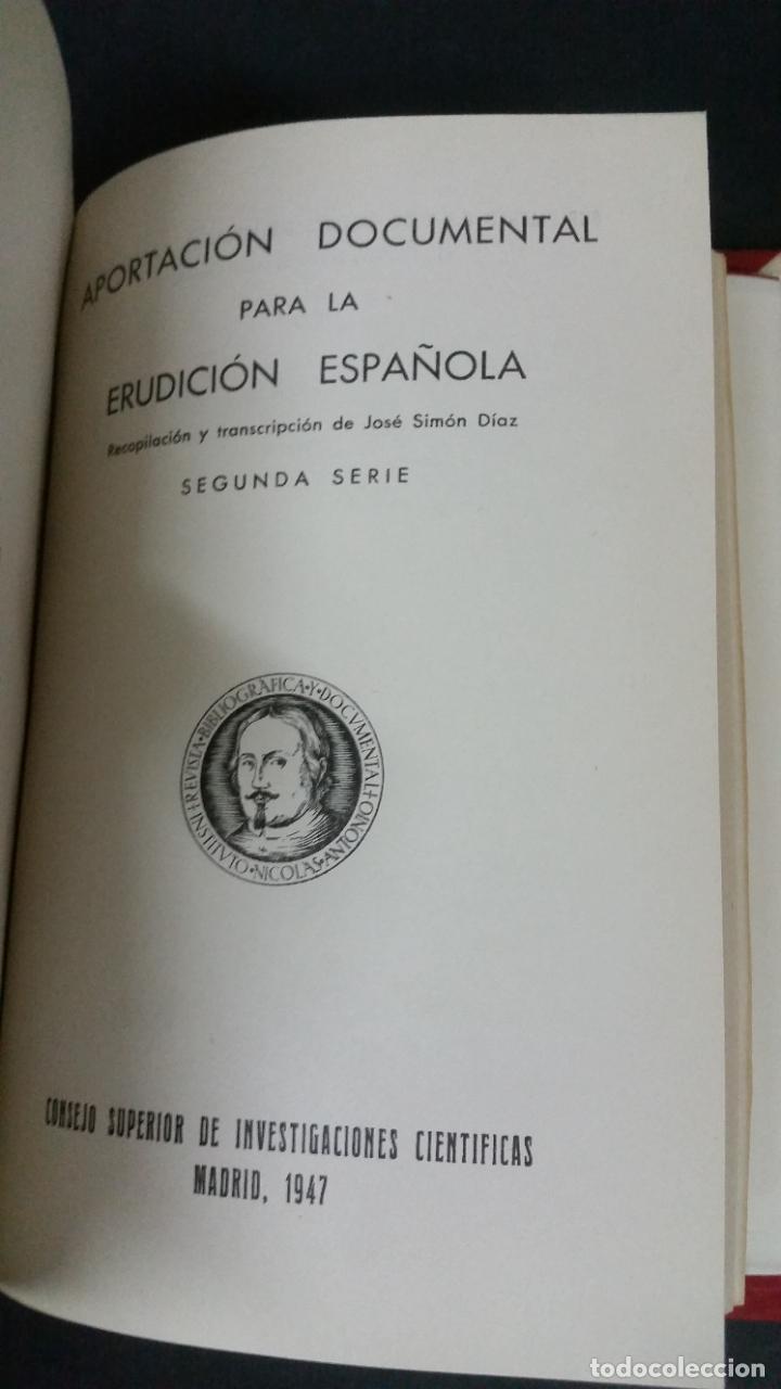 Libros de segunda mano: Revista Bibliográfica y Documental. Archivo general de erudición hispánica. Años 1947 a 1951 - Foto 9 - 269312083