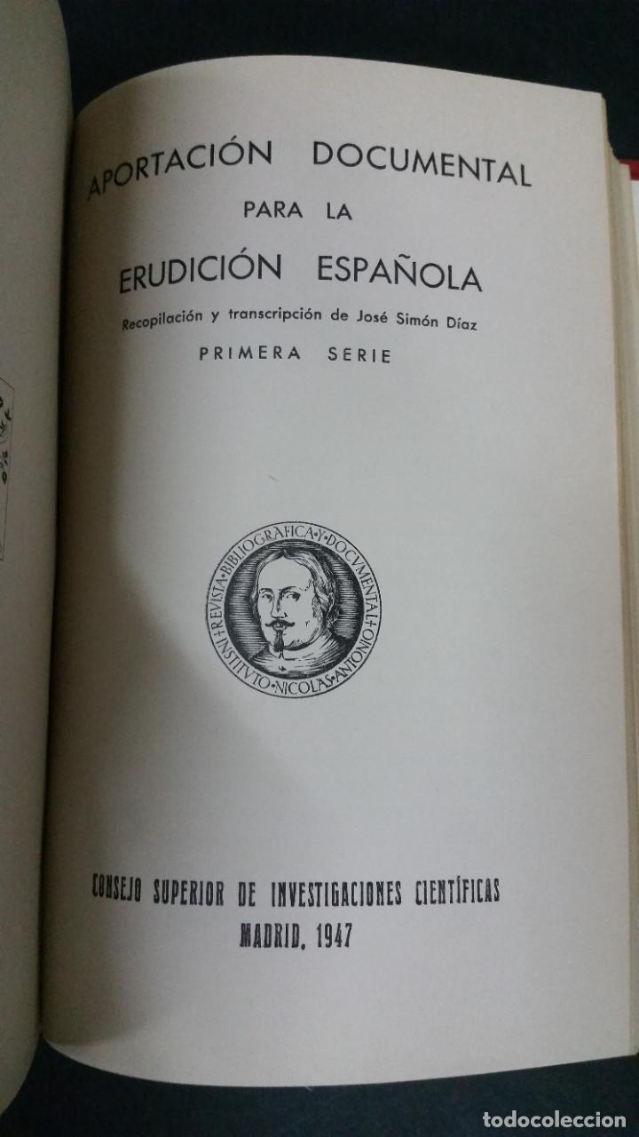 Libros de segunda mano: Revista Bibliográfica y Documental. Archivo general de erudición hispánica. Años 1947 a 1951 - Foto 10 - 269312083