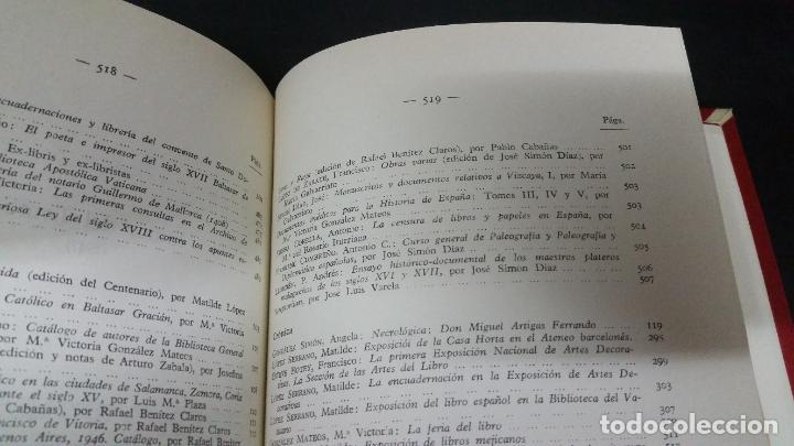 Libros de segunda mano: Revista Bibliográfica y Documental. Archivo general de erudición hispánica. Años 1947 a 1951 - Foto 11 - 269312083