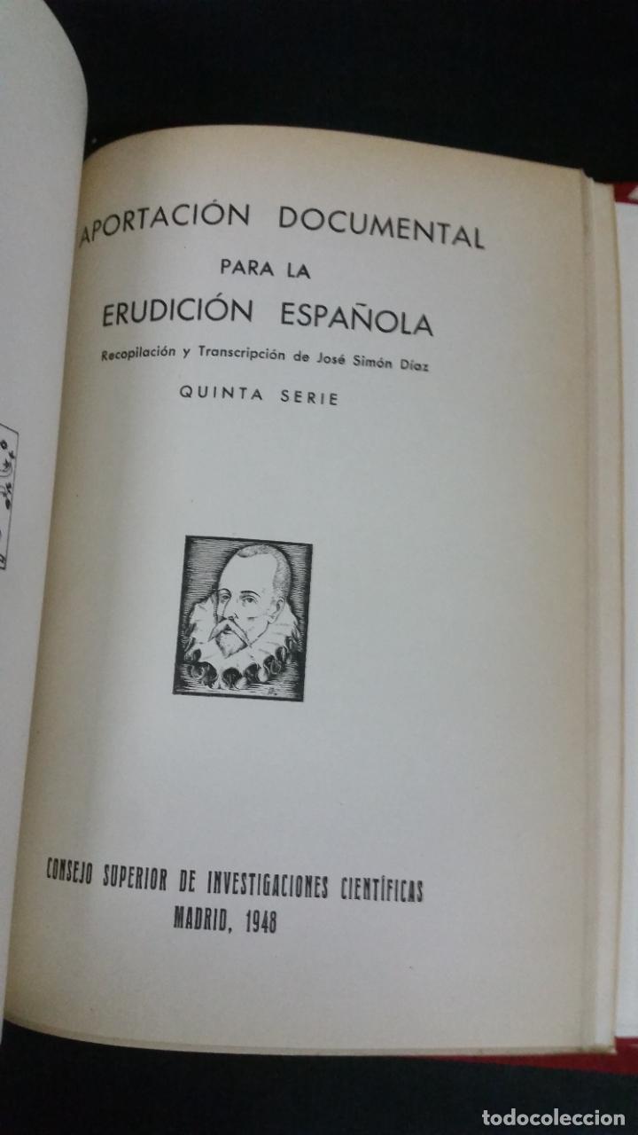 Libros de segunda mano: Revista Bibliográfica y Documental. Archivo general de erudición hispánica. Años 1947 a 1951 - Foto 15 - 269312083