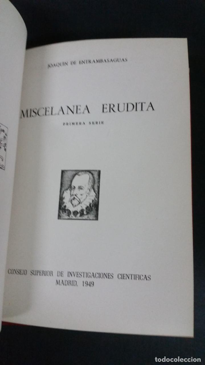Libros de segunda mano: Revista Bibliográfica y Documental. Archivo general de erudición hispánica. Años 1947 a 1951 - Foto 17 - 269312083