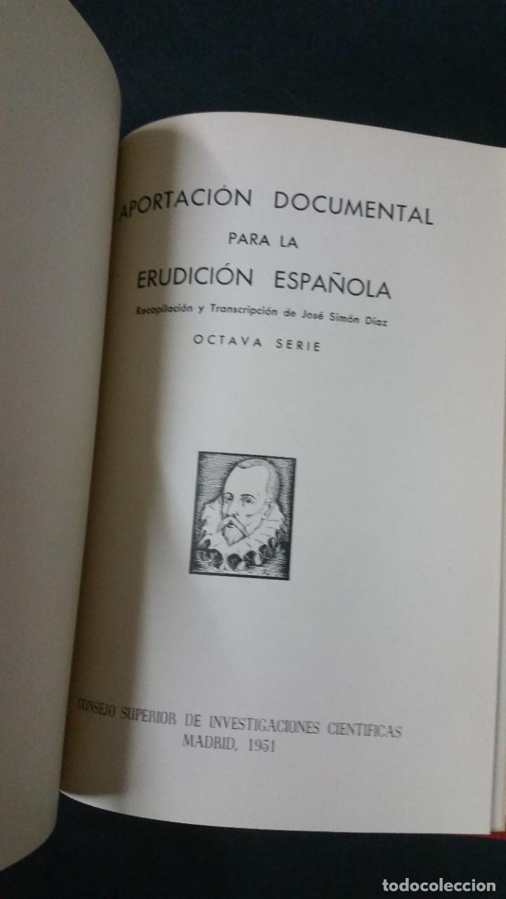 Libros de segunda mano: Revista Bibliográfica y Documental. Archivo general de erudición hispánica. Años 1947 a 1951 - Foto 18 - 269312083