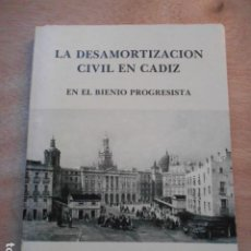 Libros de segunda mano: DESARMORTIZACIÓN CIVIL EN CADZI EN EL BIENIO PROGRESISTA ALBERTO RAMOS SANTANA. Lote 273927668