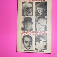 Libros de segunda mano: EL APASIONANTE MUNDO DEL LIBRO, JOSÉ RUIZ-CASTILLO BASALA, ED. AGRUPACIÓN NACIONAL DEL COMERCIO DEL. Lote 273965293