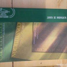 Libros de segunda mano: M-41 LIBRO CONSTITUCION ESPAÑOLA ESTATUTO DE AUTONOMIA PARA ANDALUCIA DECLARACION UNIVERSAL DE LOS D. Lote 274269938