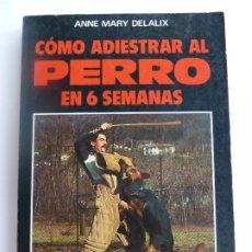 Libros de segunda mano: CÓMO ADIESTRAR AL PERRO EN 6 SEMANAS. ANNE MARY DELALIX. Lote 275577593