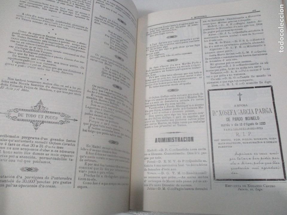 Libros de segunda mano: A MONTEIRA somanario de intreses rexionales e literatura ( gallego ( facsímil)) W8052 - Foto 5 - 275860118