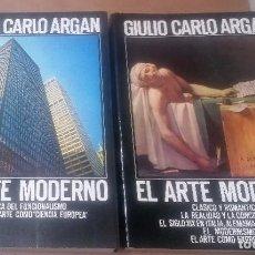 Livros em segunda mão: GIULIO CARLOS ARGAN, EL ARTE MODERNO, 2 TOMOS, 1983 Y 1984. Lote 276220218