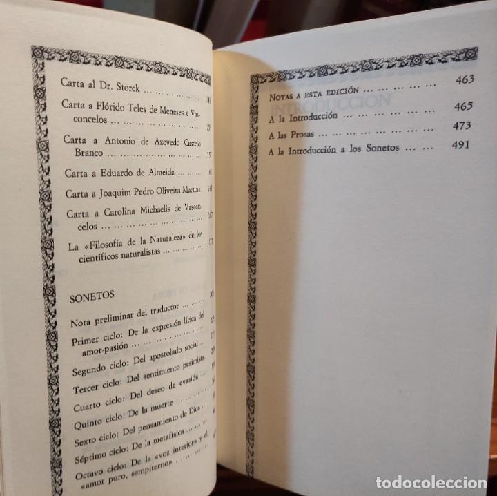 Libros de segunda mano: ANTERO DE QUENTAL - POESIAS Y PROSAS SELECTAS - BILINGÜE - CLASICOS ALFAGUARA - - Foto 4 - 276381303