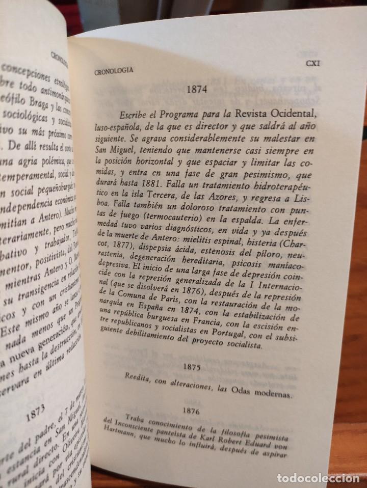 Libros de segunda mano: ANTERO DE QUENTAL - POESIAS Y PROSAS SELECTAS - BILINGÜE - CLASICOS ALFAGUARA - - Foto 5 - 276381303