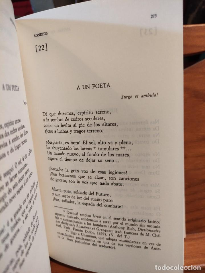 Libros de segunda mano: ANTERO DE QUENTAL - POESIAS Y PROSAS SELECTAS - BILINGÜE - CLASICOS ALFAGUARA - - Foto 6 - 276381303