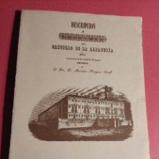 Libros de segunda mano: DESCRIPCIÓN E HISTORIA DEL CASTILLO DE LA ALJAFERÍA 1 ED. FASCIMIL. Lote 277102788