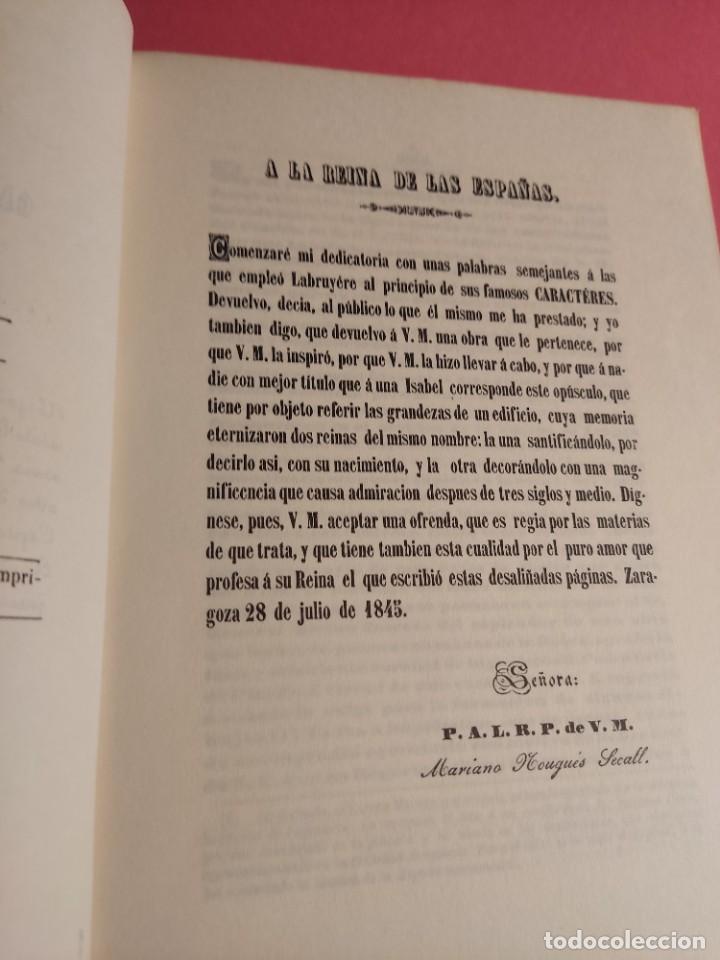 Libros de segunda mano: DESCRIPCIÓN E HISTORIA DEL CASTILLO DE LA ALJAFERÍA 1 Ed. Fascimil - Foto 5 - 277102788