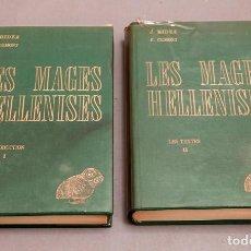 Libros de segunda mano: J. BIEDEZ , F. CUMONT : LES MAGES HELLENISES - MAGOS HELENISTAS - GRIEGOS - OCULTISMO - ESOTERISMO. Lote 277142903