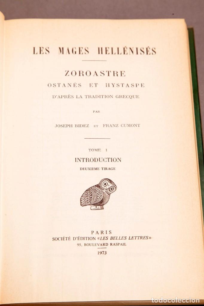 Libros de segunda mano: J. BIEDEZ , F. CUMONT : LES MAGES HELLENISES - MAGOS HELENISTAS - GRIEGOS - OCULTISMO - ESOTERISMO - Foto 3 - 277142903
