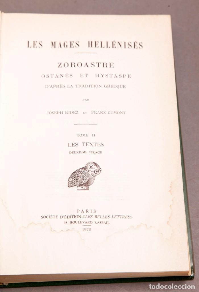 Libros de segunda mano: J. BIEDEZ , F. CUMONT : LES MAGES HELLENISES - MAGOS HELENISTAS - GRIEGOS - OCULTISMO - ESOTERISMO - Foto 6 - 277142903