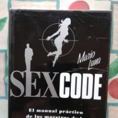 Libros de segunda mano: MARIO LUNA: SEX CODE SEXCODE. Lote 277199933