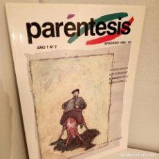 Libros de segunda mano: REVISTA PARENTESIS Nº 2, AÑO I, INVIERNO 1992-1993, CULTURA / CULTURE, EDICIONES DEL GANDUL, 1992. Lote 277264643