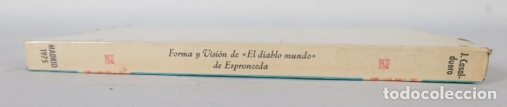 Libros de segunda mano: Forma y visión de El diablo mundo de Espeonceda-Joaquín Casalduero-Ed.Jose Pornua Turanzas 1975 - Foto 3 - 277283303