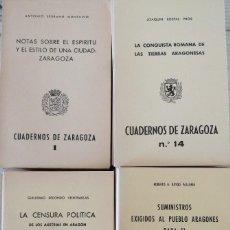 Libros de segunda mano: CUADERNOS DE ZARAGOA. PRIMERA ÉPOCA. NÚMEROS DEL 1 AL 47-48. COMPLETA (1976-79). Lote 277283548
