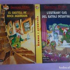 Libros de segunda mano: LOTE DE 2 CUENTOS DE GERÓNIMO STILTON , EN CATALÁN, VER FOTOS. Lote 277450693