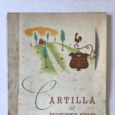 Libros de segunda mano: CARTILLA DEL HOSTELERO.. Lote 123140598