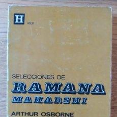 Libros de segunda mano: BUDISMO. SELECCIONES DE RAMANA MAHARSHI (HORUS) (RUSTICA) - OSBORNE OSBORNE ARTHUR. 1994. Lote 277609338