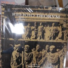 Libros de segunda mano: RELIGIO DEORUM. ACTAS DEL COLOQUIO INTERNACIONAL DE EPIGRAFÍA CULTO Y SOCIEDAD EN OCCIDENTE - MAYER. Lote 277658213