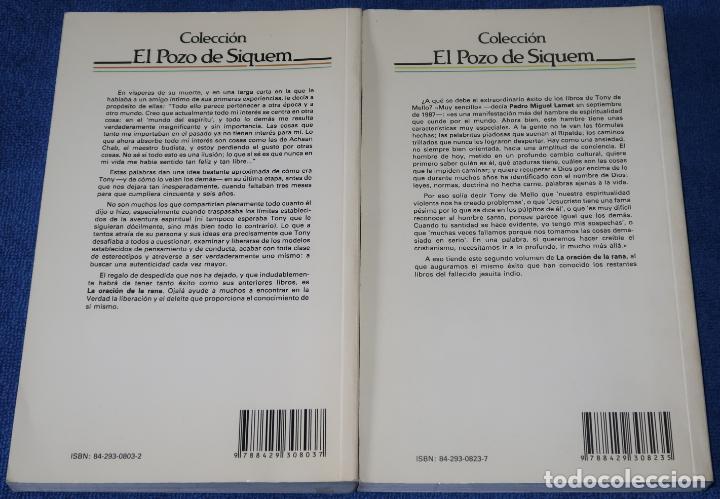 Libros de segunda mano: La oración de la rana - Tomo I y II - Anthony de Mello - Sal Terrae (2008) - Foto 2 - 277668488