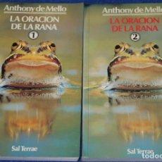 Libros de segunda mano: LA ORACIÓN DE LA RANA - TOMO I Y II - ANTHONY DE MELLO - SAL TERRAE (2008). Lote 277668488