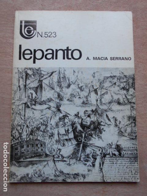 TEMAS ESPAÑOLES LEPANTO ANTONIO MACIÁ SERRANO (Libros de Segunda Mano - Historia - Otros)