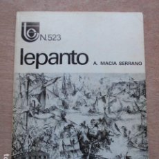 Libros de segunda mano: TEMAS ESPAÑOLES LEPANTO ANTONIO MACIÁ SERRANO. Lote 277706093