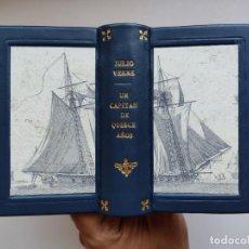 Libros de segunda mano: UN CAPITÁN DE QUINCE AÑOS / JULIO VERNE. EDICIONES G.P. ENCICLOPEDIA PULGA. ENCUADERNACIÓN ARTESANAL. Lote 277835483
